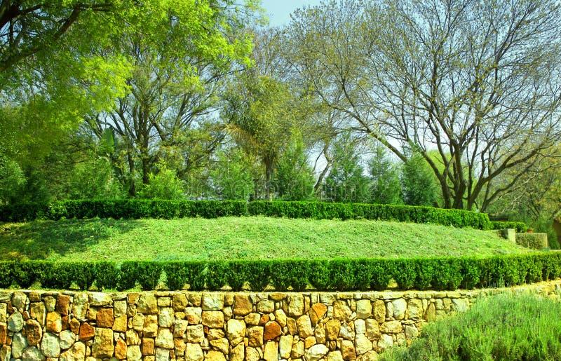 构建的庭院 库存图片