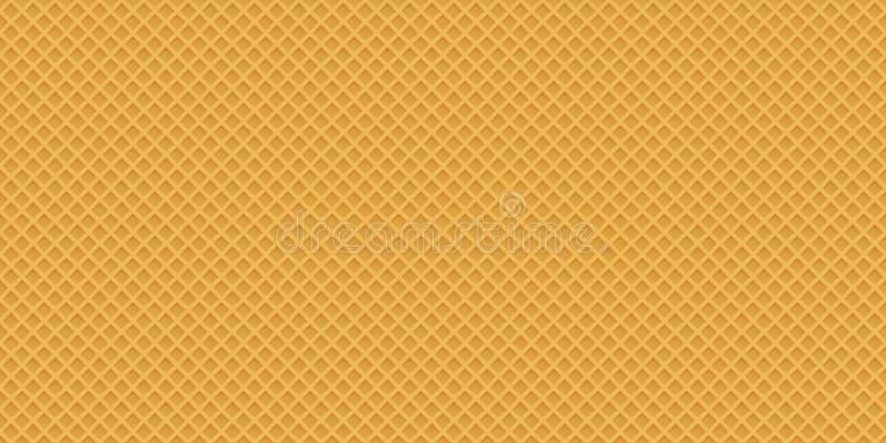 构思设计的无缝的现实薄酥饼样式 甜seaml 库存例证