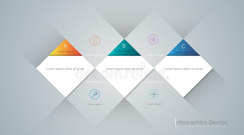 构成内容的样式设计, infographic,现代图形设计,横幅,模板,盖子 向量例证