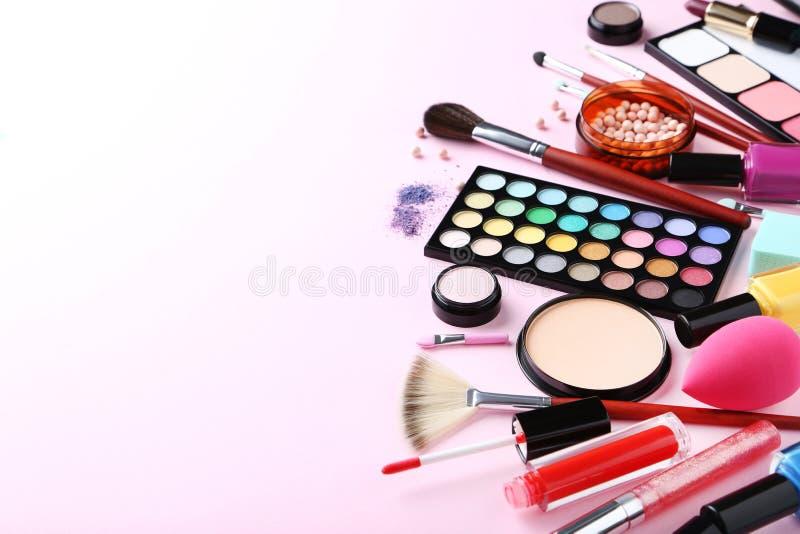 构成化妆用品 图库摄影