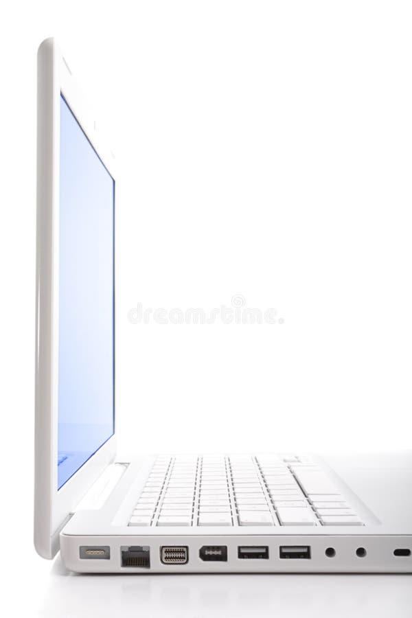 构成喂关键膝上型计算机垂直 免版税库存照片