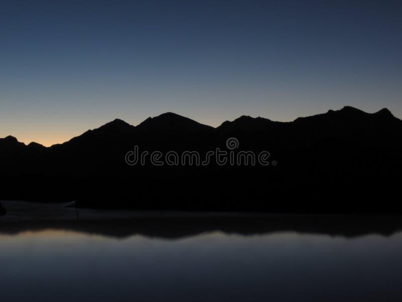 构成山自然范围阳光 免版税图库摄影