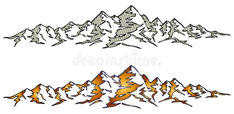 构成山自然范围阳光 皇族释放例证