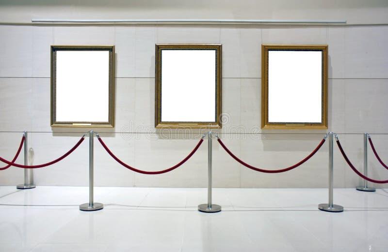 构成的空白画布陈列 库存图片