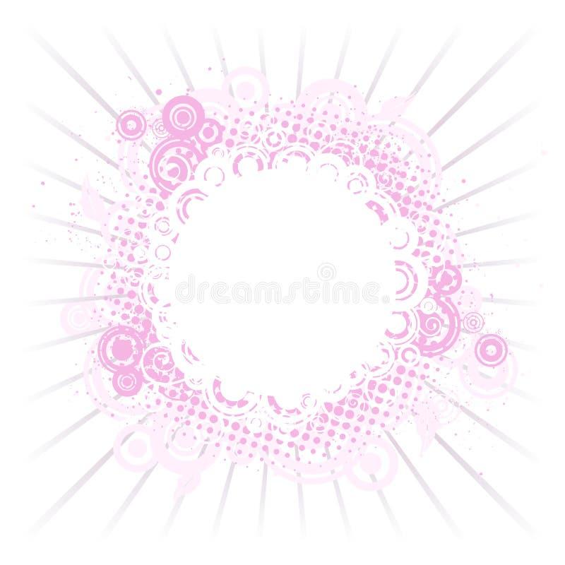 构成粉红色 库存例证
