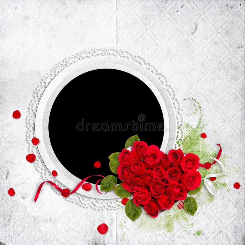 构成重点玫瑰来回白色 皇族释放例证