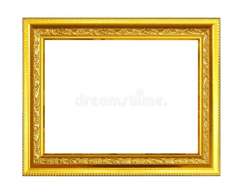 构成金子查出的白色 图库摄影