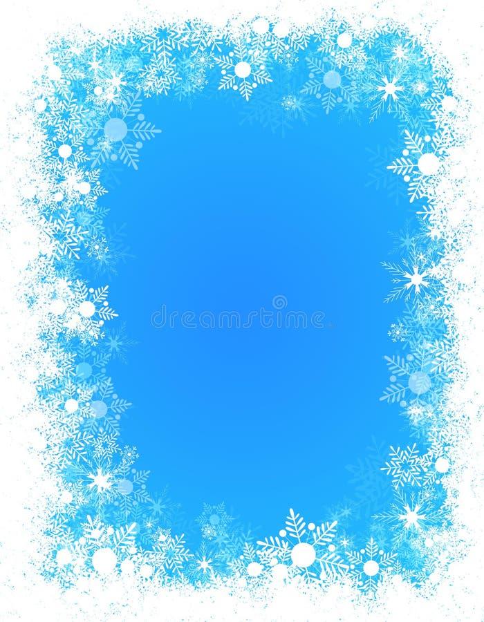 构成雪冬天 库存例证