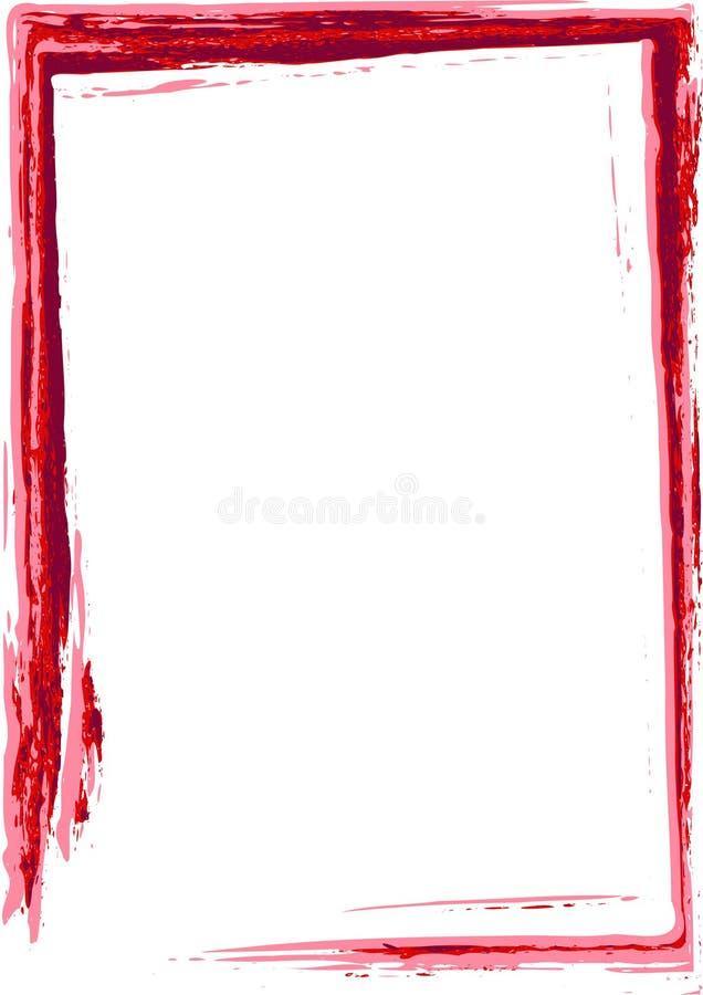 构成grunge红色 向量例证