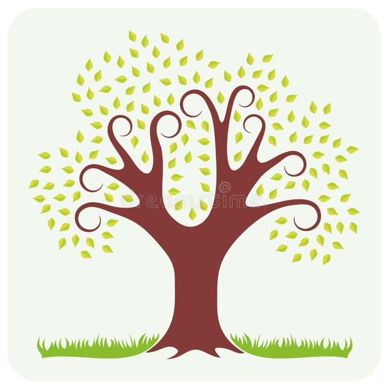 结构树在春天 库存例证