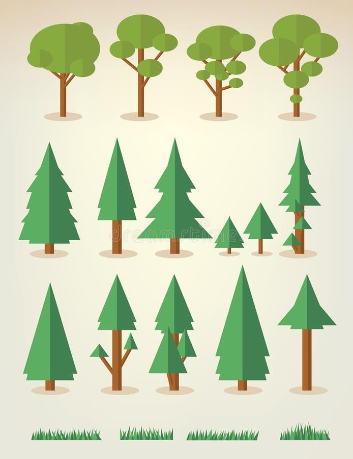 结构树的收集 库存例证