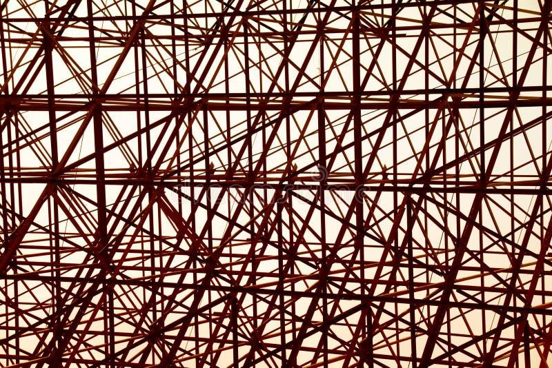 结构橙色钢发怒建筑摘要背景 皇族释放例证