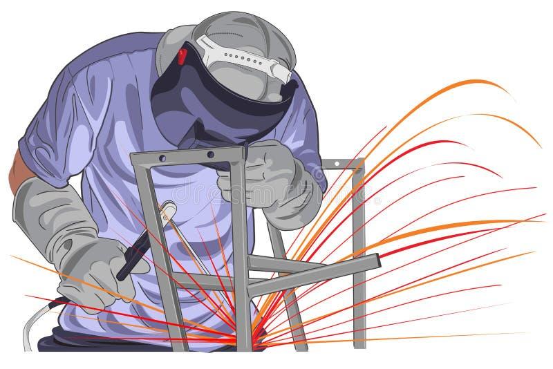 结构焊接 皇族释放例证