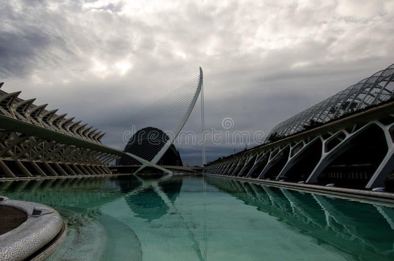 结构现代巴伦西亚 免版税库存照片