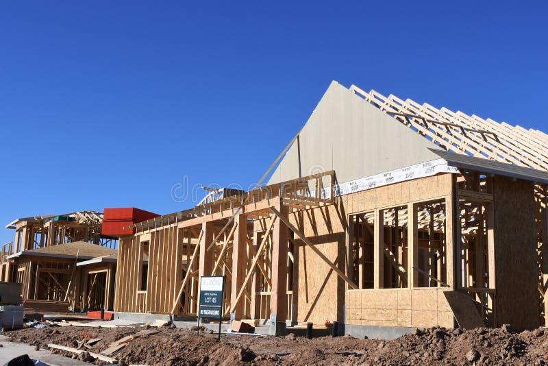 构筑在西南的新的家庭建筑 库存照片