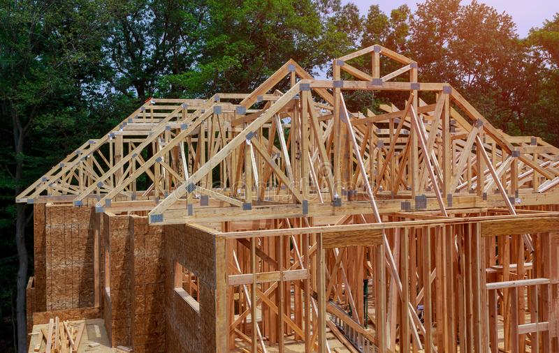 构筑的射线新房建设中家构筑 库存图片