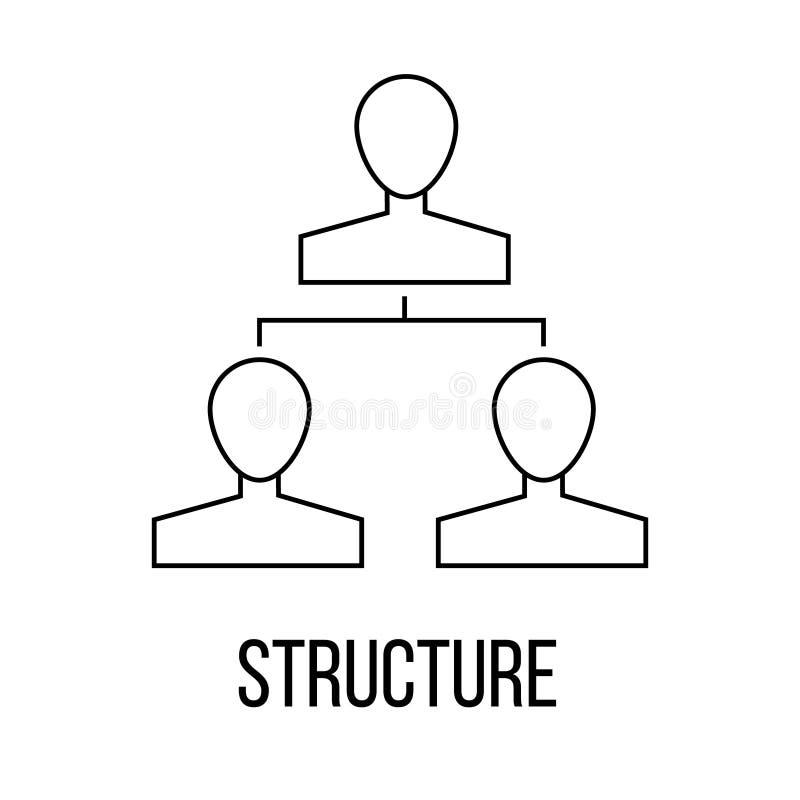 结构象或商标线艺术样式 向量例证