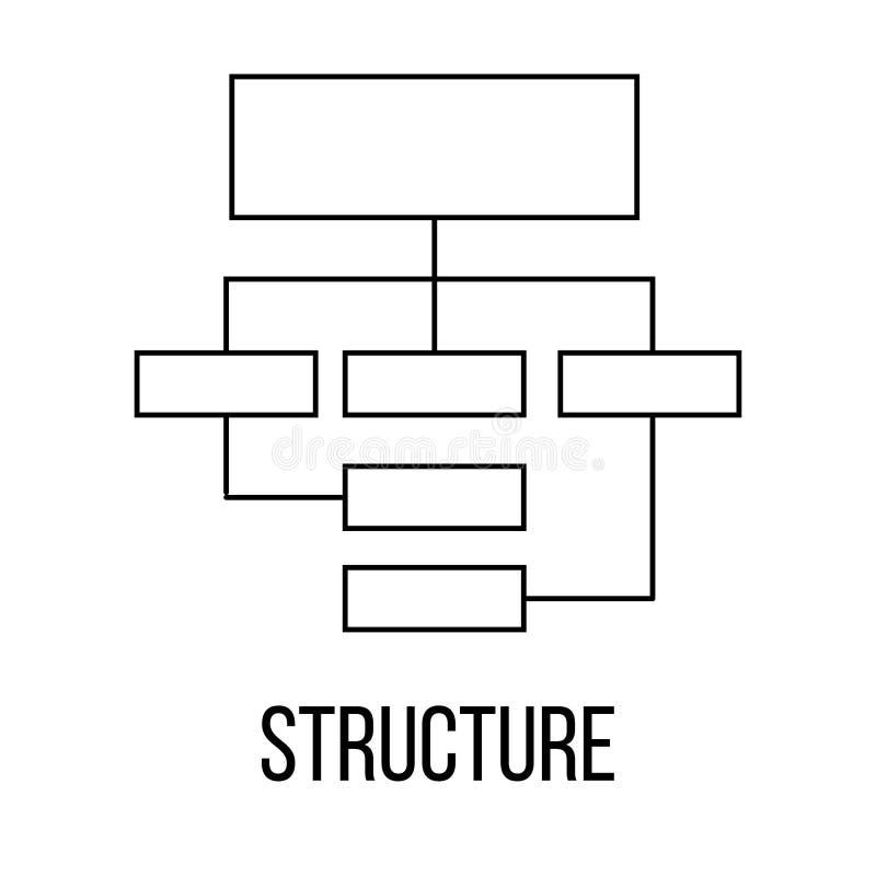 结构象或商标线艺术样式 皇族释放例证