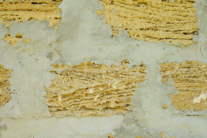 构造从壳的背景砖,墙壁由壳砖制成 库存图片