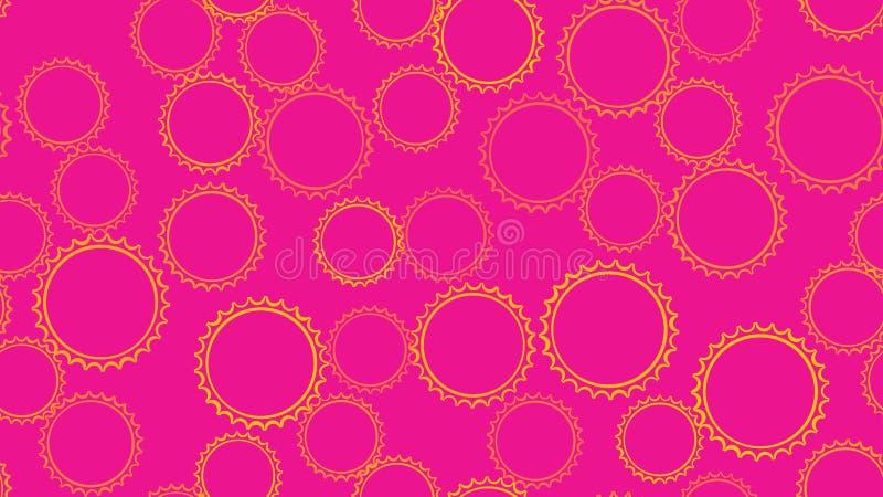 构造从套的无缝的样式多彩多姿的简单的圆的摘要齿轮几何形状被雕刻的泡影圈子  向量例证