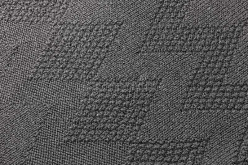 构造灰色毛线衣纹理 免版税图库摄影