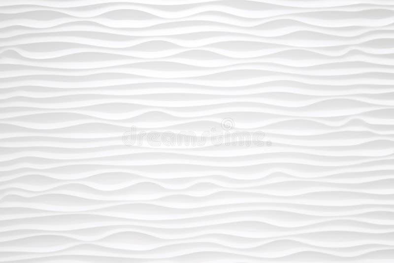 构造现代白色无缝的波浪墙壁的样式backgroun的 皇族释放例证