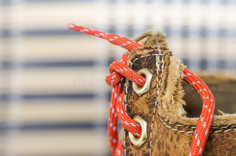 构造老皮鞋 图库摄影