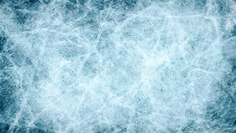 构造蓝色冰 滑冰场 背景蓝色雪花白色冬天 顶上的视图 例证natur 库存例证
