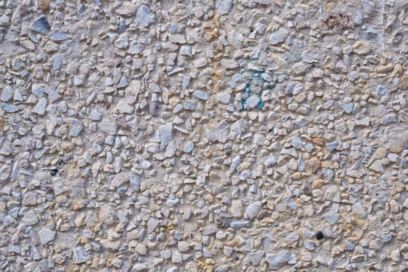 构造被暴露的聚集结束表面,地面石被洗涤的地板 免版税库存图片