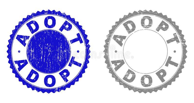 构造采取难看的东西有丝带的邮票封印 库存例证