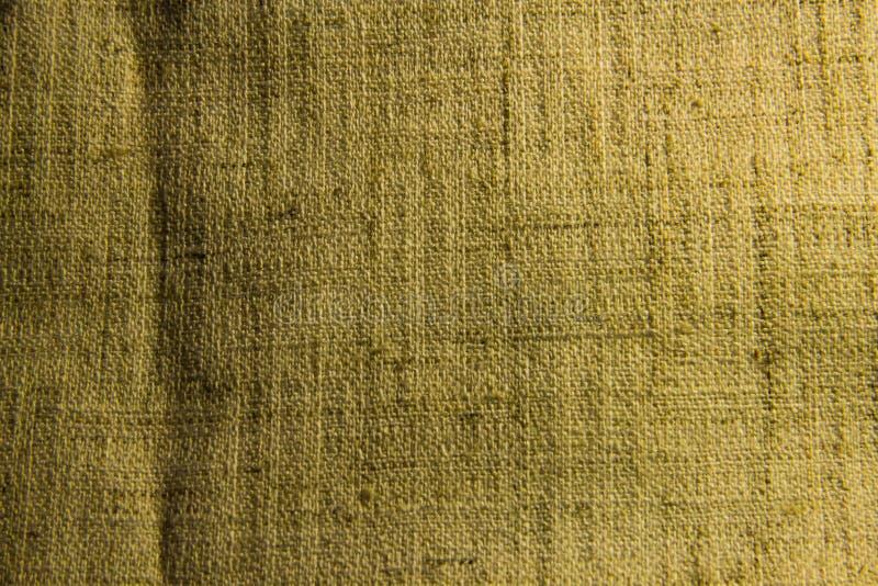 构造黄褐色亚麻制织品特写镜头 图库摄影