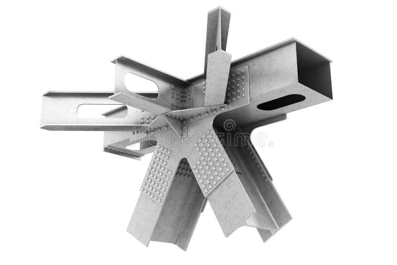 结构金属制品的片段 向量例证