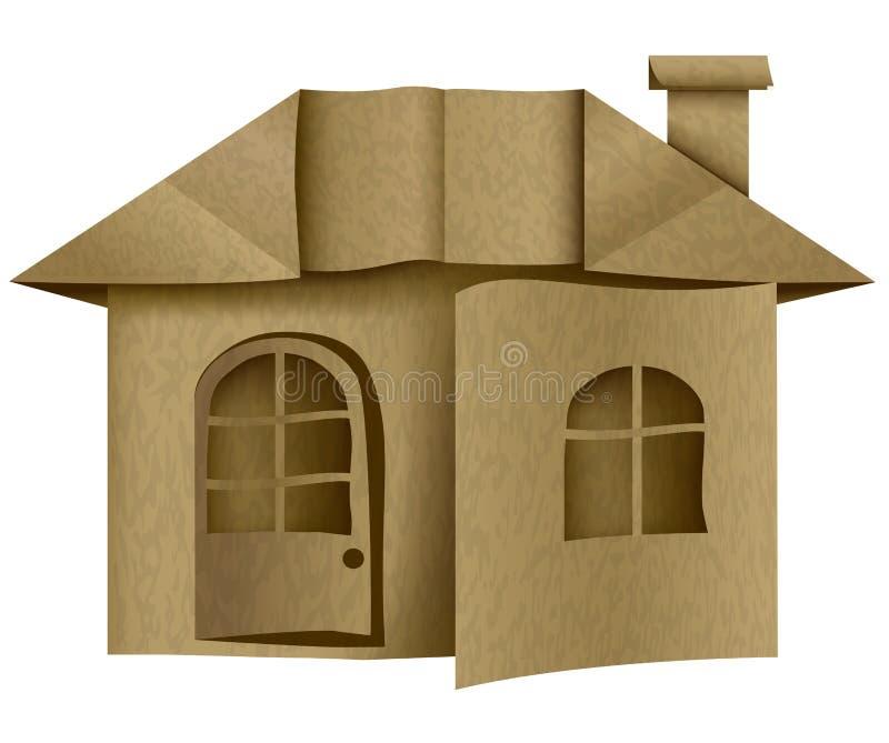 结构 纸箱房子 origami 向量例证