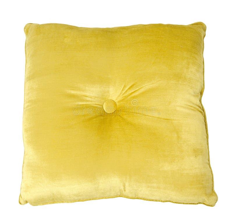 枕头黄色 库存图片