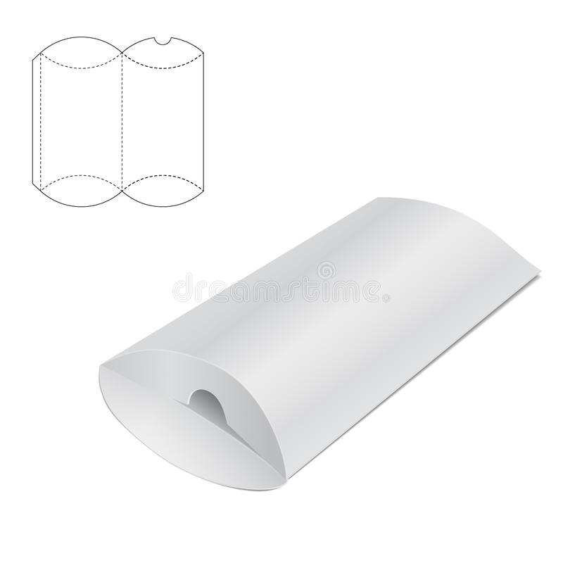 枕头折叠的箱子A 皇族释放例证