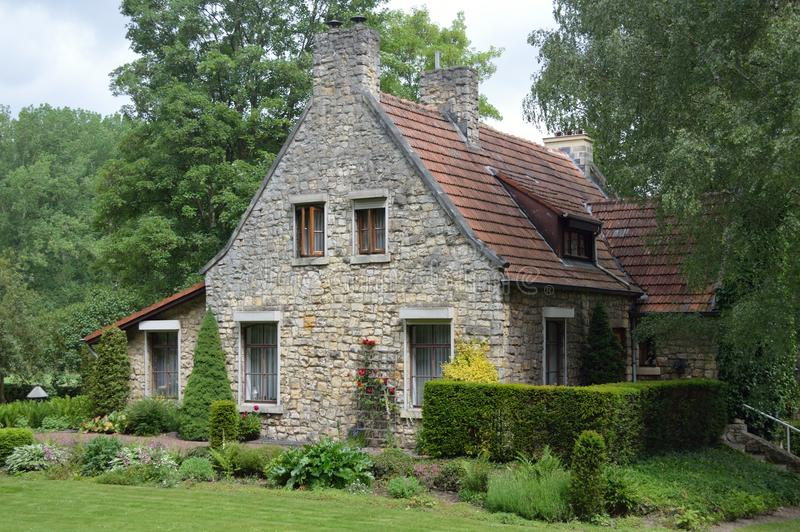 从林堡省的小村庄在有beautifull风景的荷兰 库存图片