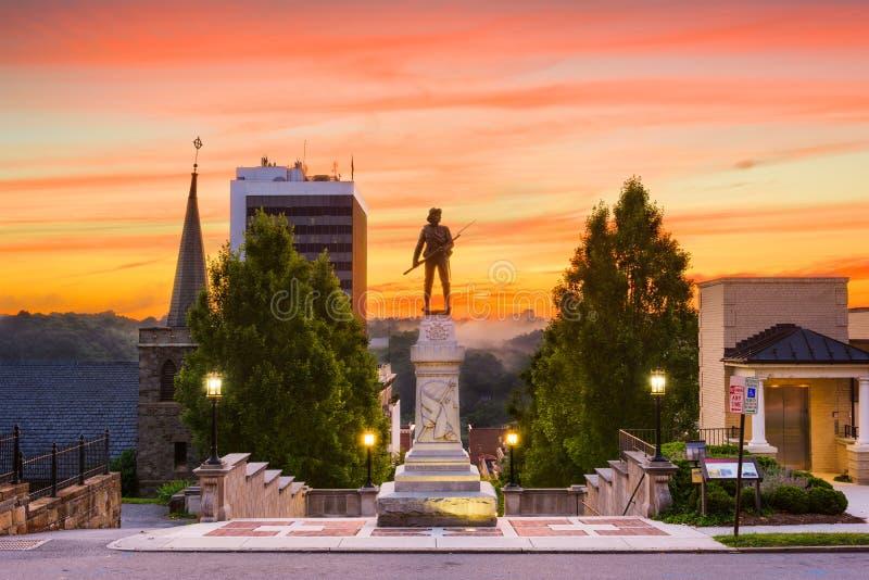 林奇堡,纪念碑大阳台的弗吉尼亚 库存图片