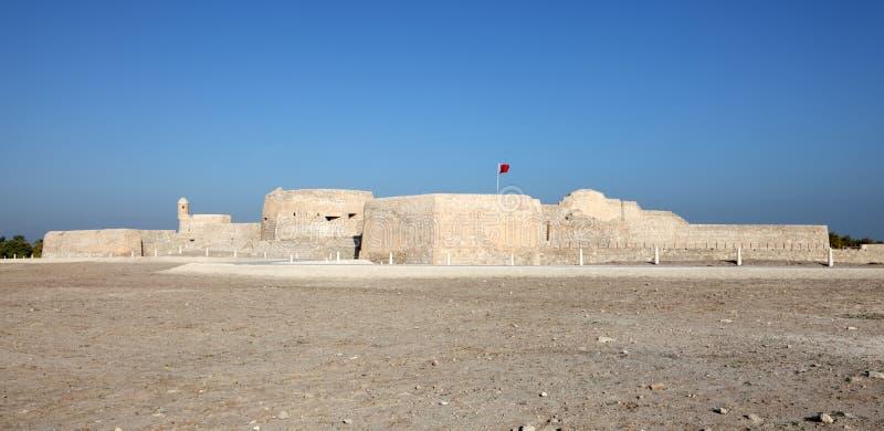 巴林的古老堡垒 免版税图库摄影