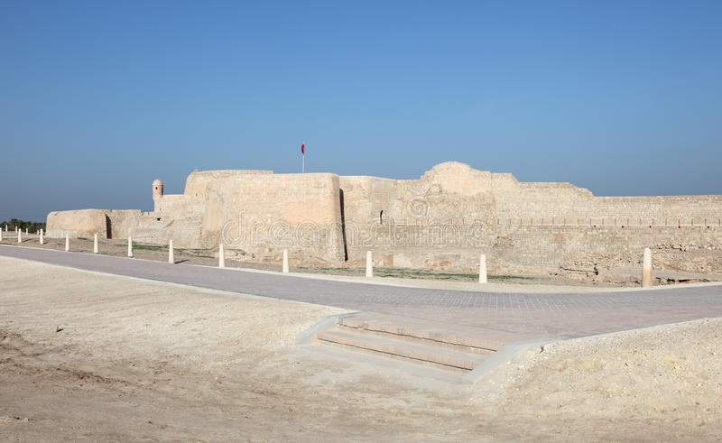 巴林的堡垒在麦纳麦,中东 免版税库存照片