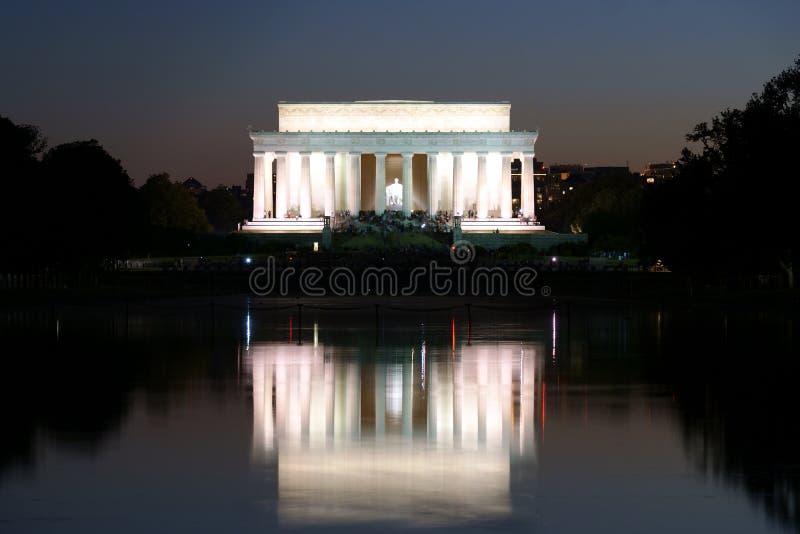 林肯纪念品反映 库存图片