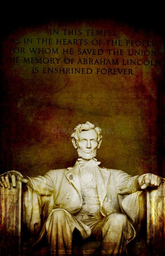 林肯雕象林肯纪念堂特写镜头  免版税库存图片