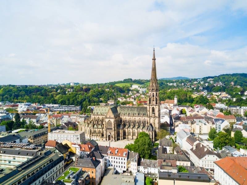 林茨新的大教堂,奥地利 库存图片
