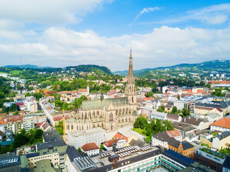 林茨新的大教堂,奥地利 免版税图库摄影