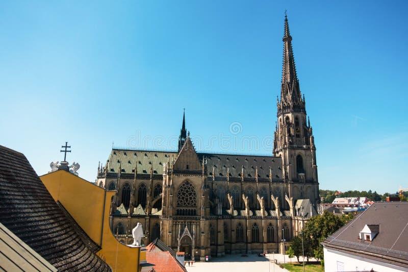 林茨,奥地利,新的大教堂 免版税库存照片