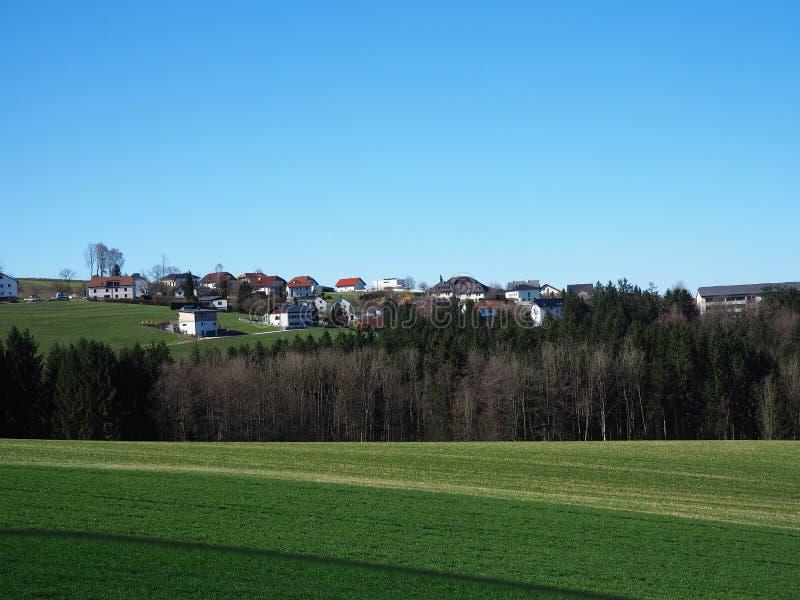 林茨,平安的奥地利乡下干净和 免版税库存图片
