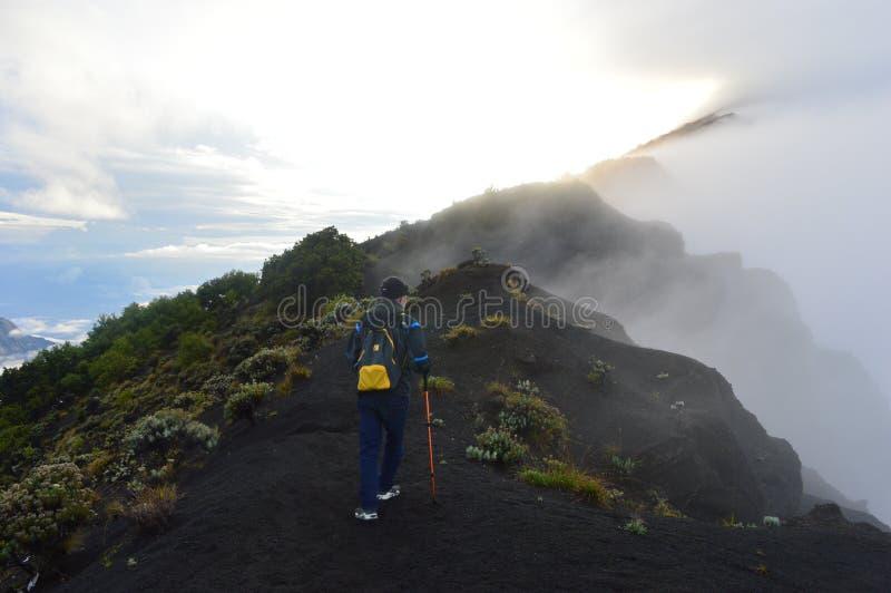 林贾尼火山,龙目岛,印度尼西亚 库存照片