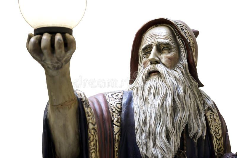 默林雕象咒语中世纪督伊德教憎侣 免版税库存图片