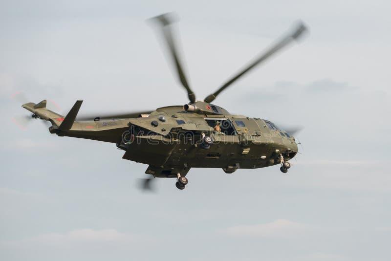 默林直升机 免版税库存照片