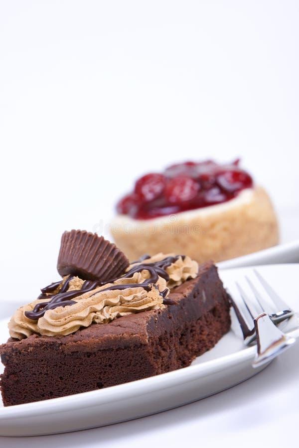 果仁巧克力乳酪蛋糕巧克力软糖 免版税库存照片