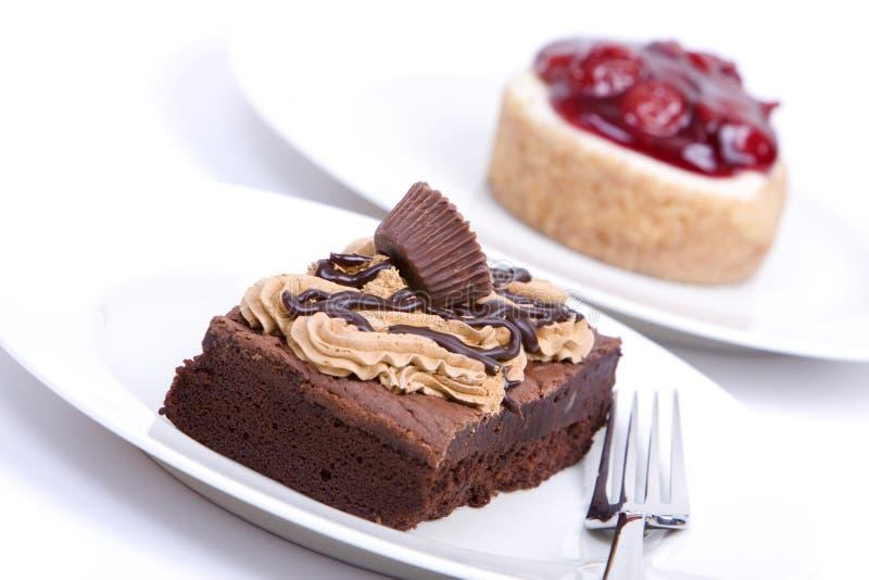 果仁巧克力乳酪蛋糕巧克力软糖 库存图片